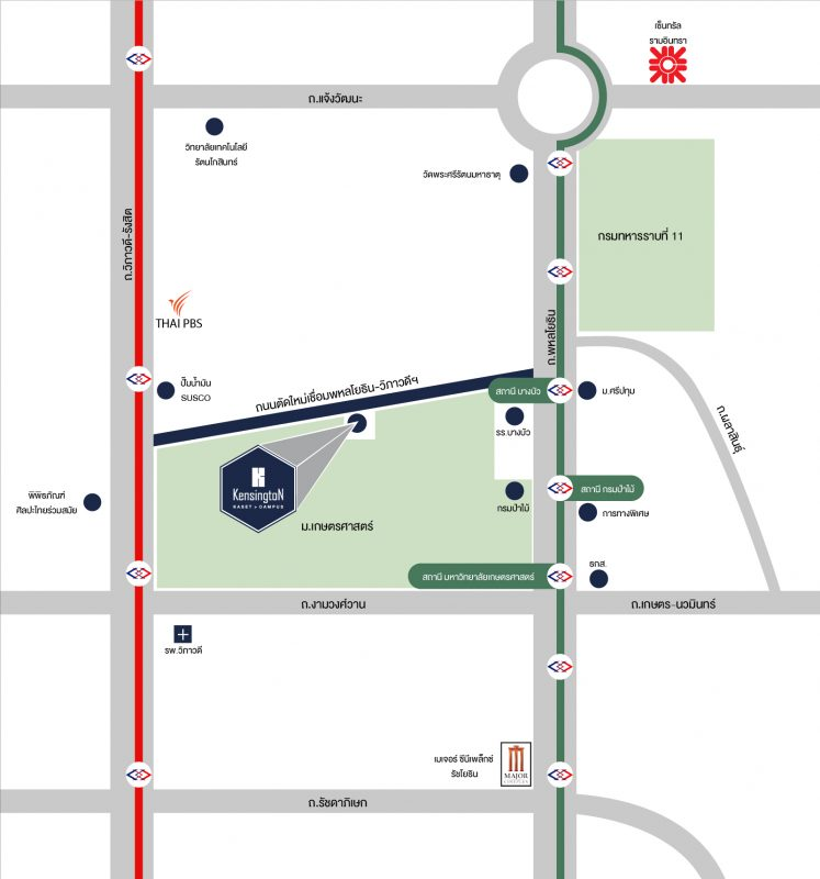 Kensington Kaset Campus Map