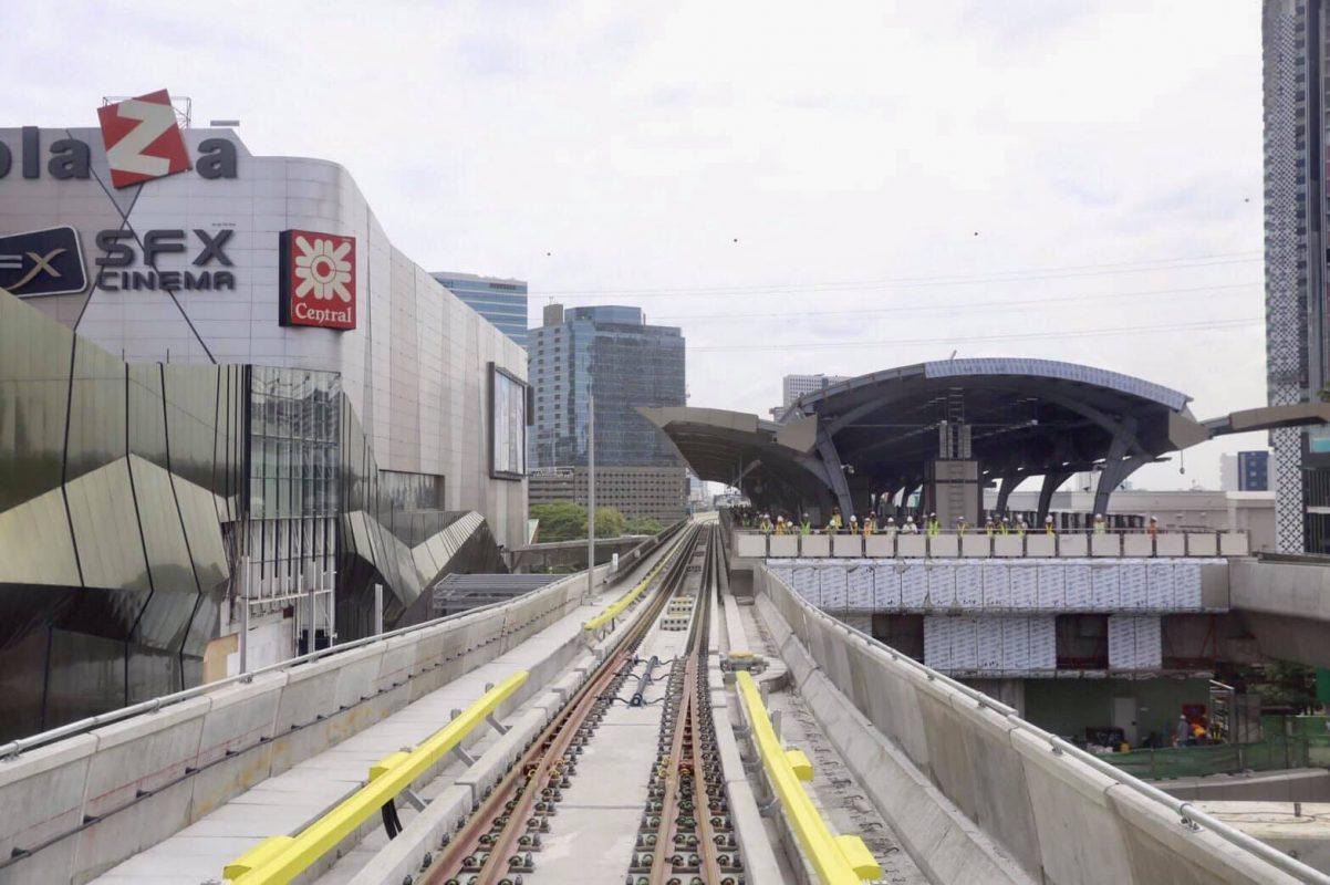 ภาพ BTS ห้าแยกลาดพร้าว จากเพจ รถไฟฟ้าบีทีเอส