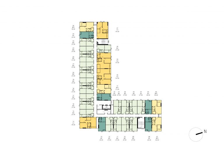 Tower-B-Master-Plan--2nd---8th-Floor-Plan