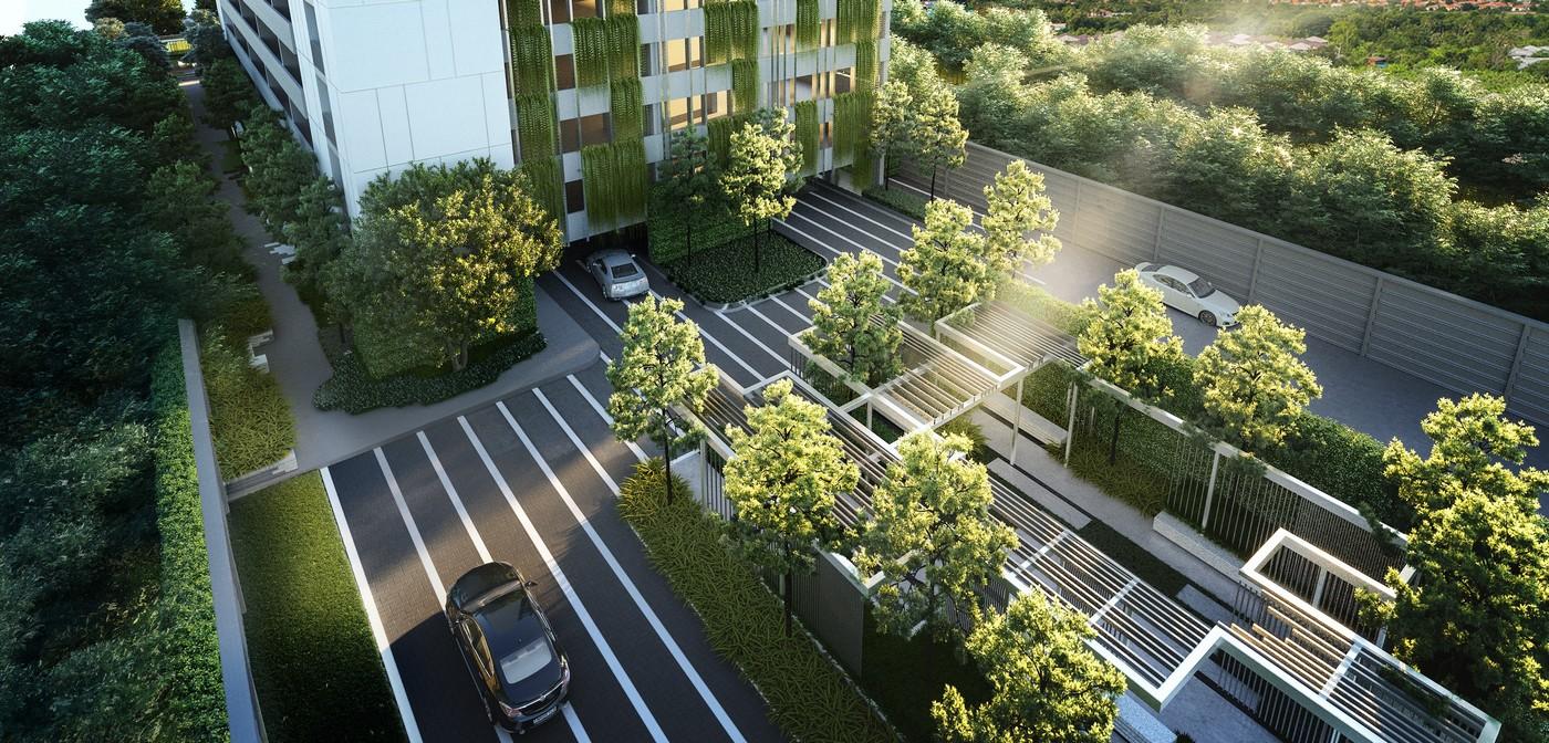 คอนโดราม Parking walkway