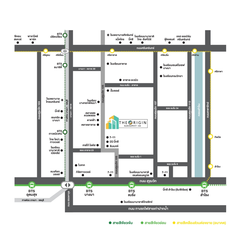 Map The origin sukhumvit ๅจถ