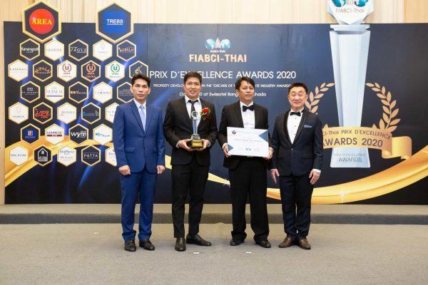 """""""ออริจิ้น อีอีซี คว้ารางวัล """"FIABCI - Thai Prix D' Excellence Awards 2020"""""""